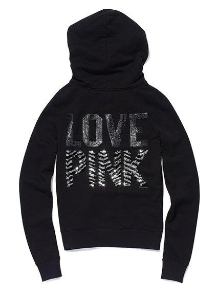 Victoria's Secret Pink - Bling Signature Zip Hoodie $79.50