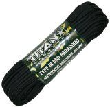 """Titan� Genuine Military Black 550 Paracord, 100 FEET - Authentic """"Mil-Spec"""" (MIL-C-5040-H) Type III, 7 Strand, 100% Nylon 550 Cord. This is the same Parachute Cord used by the US Military. by TITAN PARACORD"""