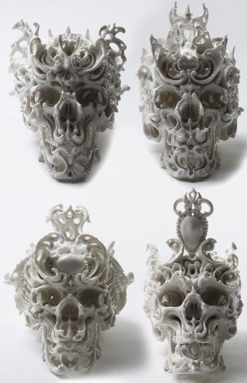 Skulls:  Porcelain #Skulls, Katsuyo Aoki.
