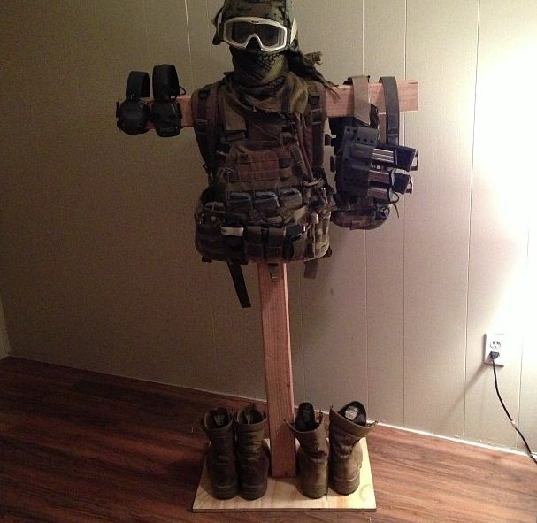 Another DIY gear tree! | usmc | Pinterest | Soccer, I am ...
