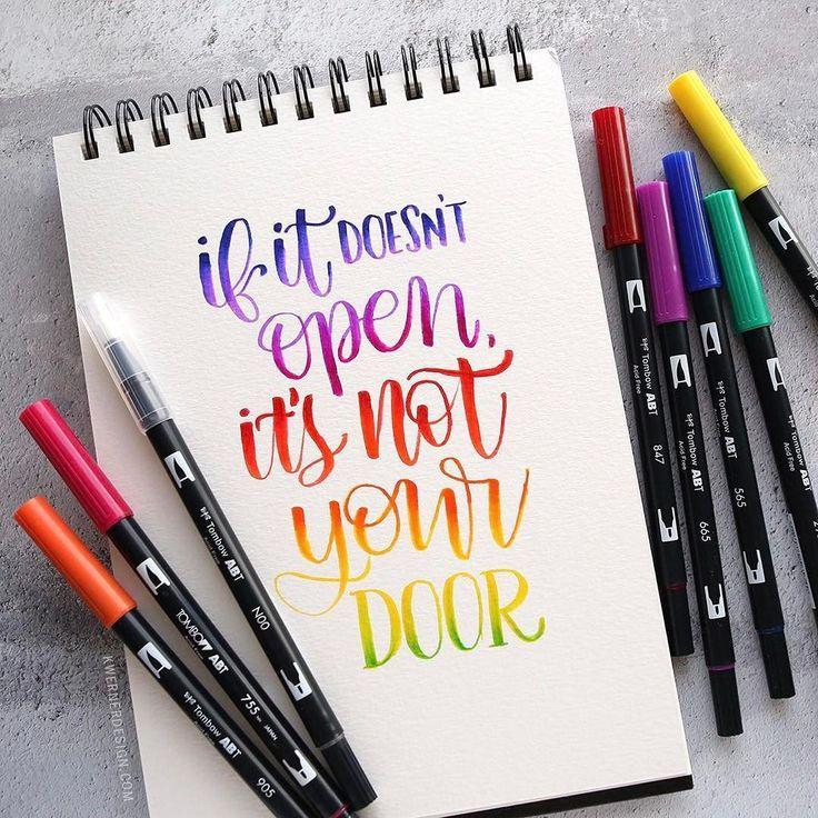 Lettering brush pen ridgid tool case