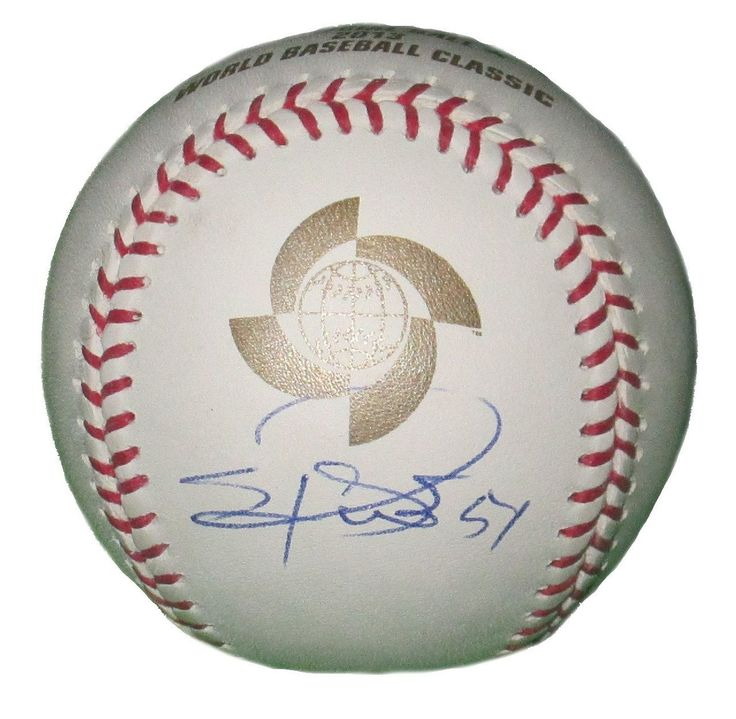 Sergio Romo Autographed Rawlings 2013 World Baseball Classic Baseball, Proof. Sergio Romo Signed Rawlings 2013 World Baseball Classic Official Game Baseball, Team Mexico,San Francisco Giants, Los Angeles Dodgers, Proof   This is a brand-new Sergio Romoautographed Rawlings 2013 World Baseball Classic Officialleather game baseball.Sergiosigned the baseball in blue ball point pen.Check out the photo of Sergiosigning for us. ** Proof photo is included for free with purchase. Please click…