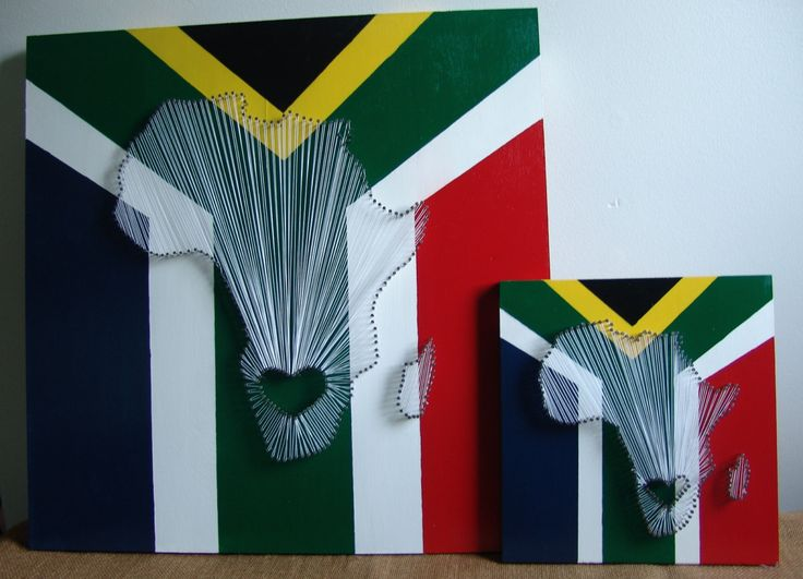 South African Flag Nail String Art by PurelySublime on Etsy