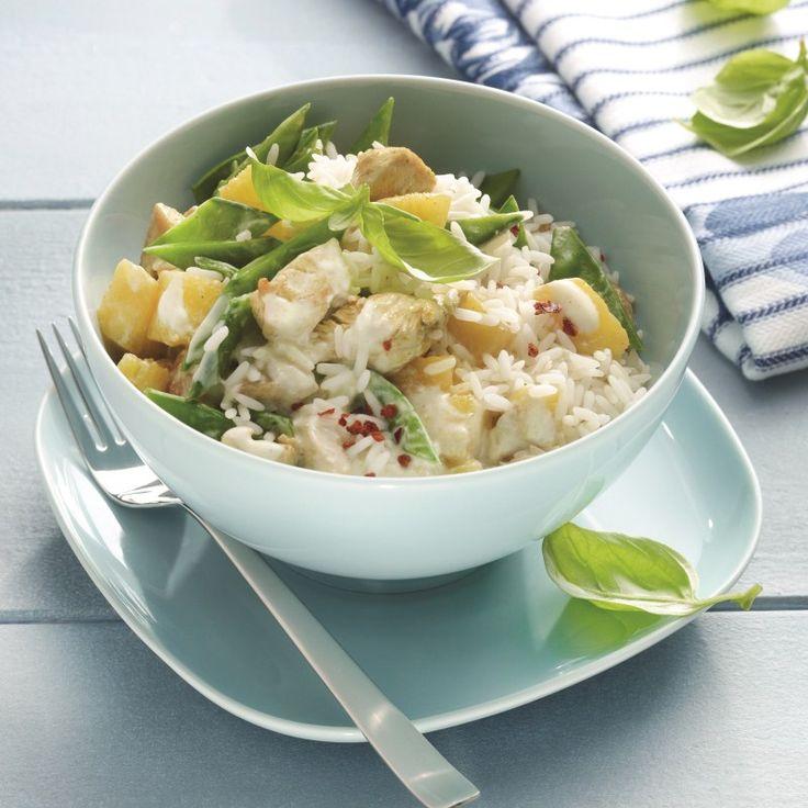 Kalkoen-ananascurry met rijst Recept   Weight Watchers België
