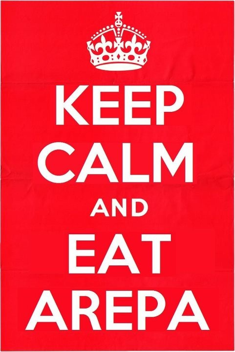 ...Eat Arepa... this is perfect for me. Go Venezuelans.