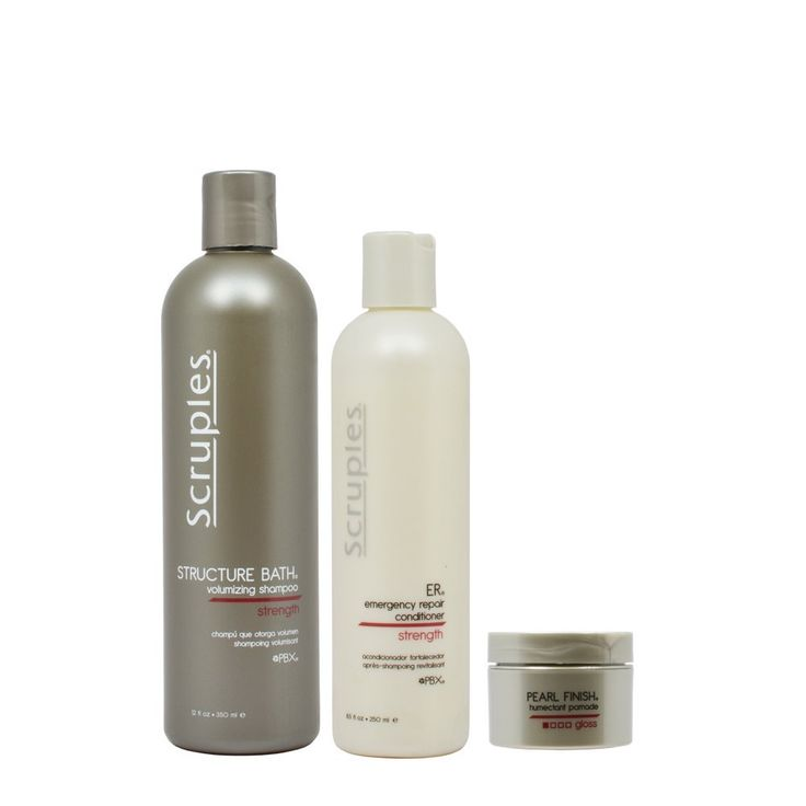 Scruples Structure Bath Volumizing Shampoo 12oz and ER Emergency Repair Conditioner 8.5oz and Pearl Finish Humectant Pomade 'Set' -- Check out the image by visiting the link.