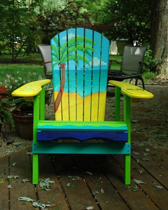 Custom Hand Painted Adirondack Chairs by indyRtist on Etsy
