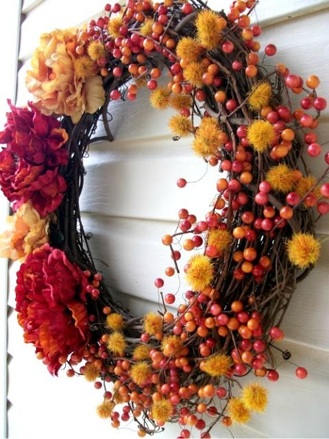 Fall Party Wreath #HolidayPartyPlanning