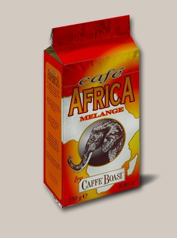 Caffè Africa by Caffè Boasi - An intense full-bodied blend with a strong syrupy consistence. PACKAGES: 250 gr