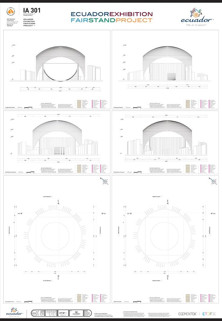 ecuador kurumsal fuar standı konsepti için yapılan tasarım teknik çizimleri & sunum paftası tasarımı + uygulaması. pinterest.com/ETDF