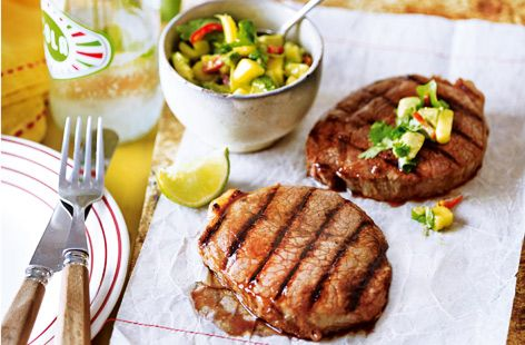 The World Cup is a perfect excuse for a Brazilian BBQ this summer. This barbecue steak with lime and mango salsa recipe will keep football fans happy, whatever the score.