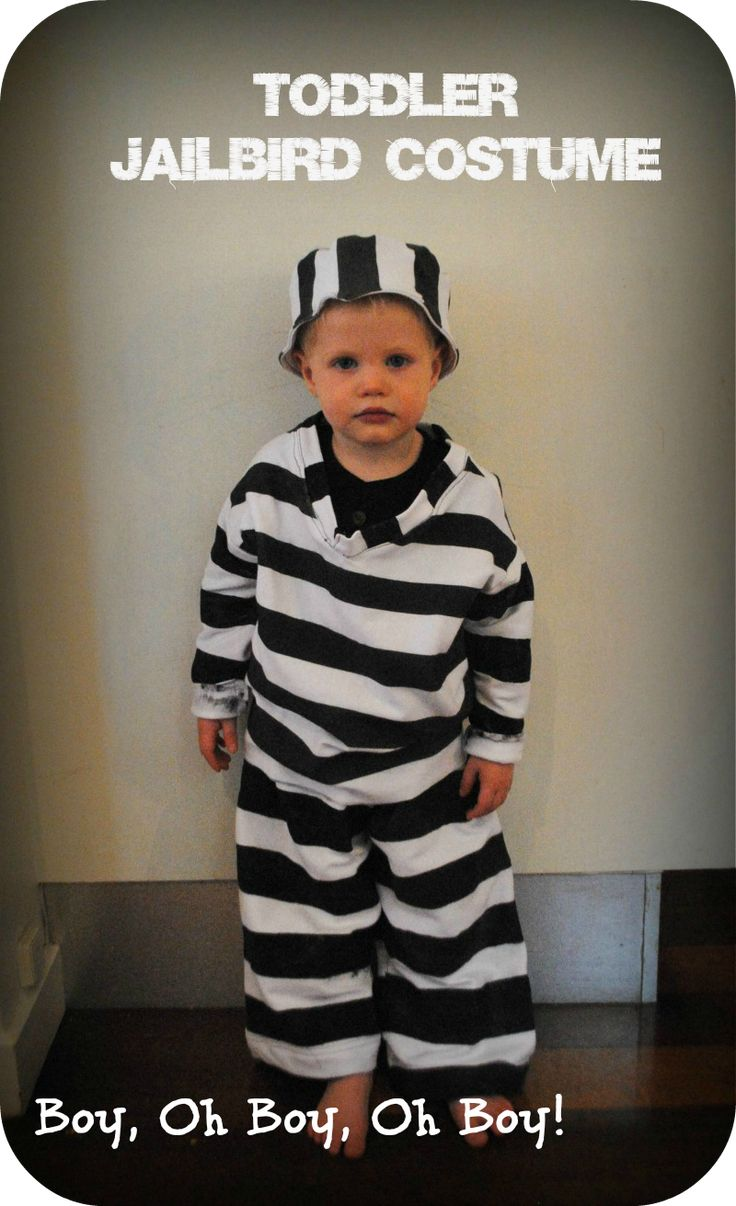 toddler jailbird costume tutorial