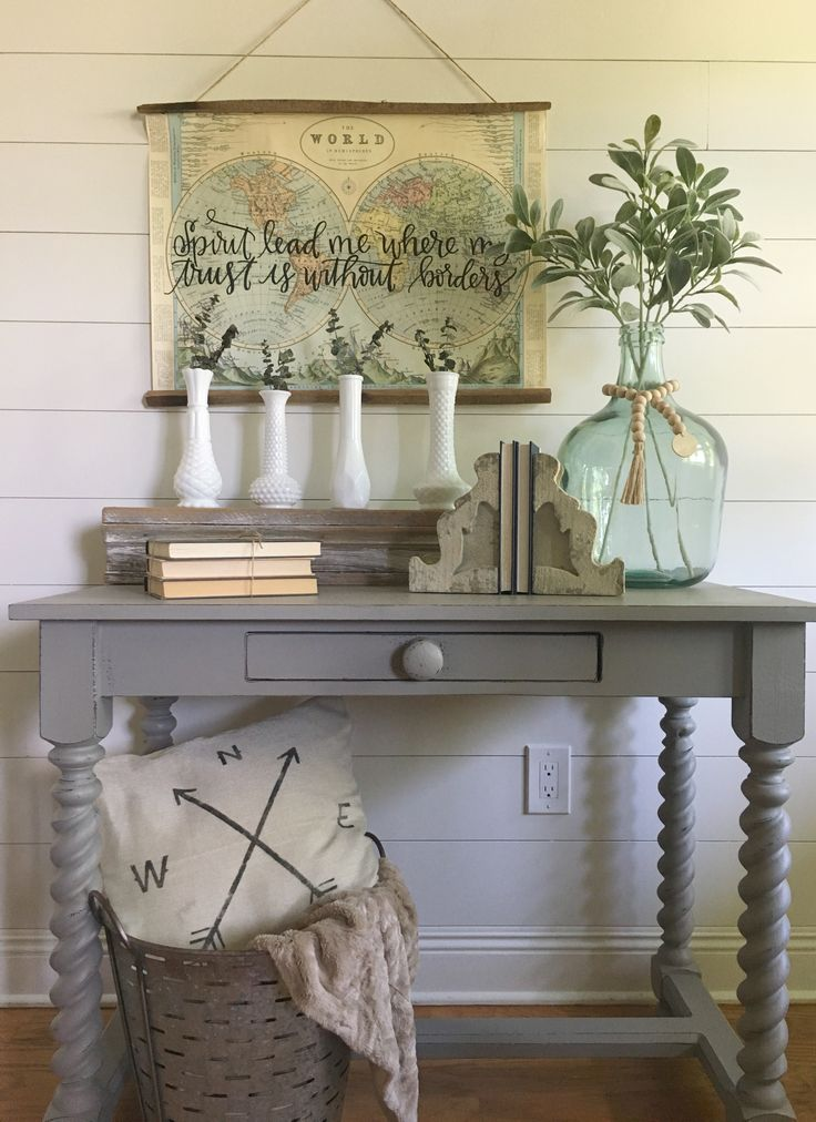 A thrift store flip. See a step-by-step transformation of a chalk painted and distressed table. Along with how to decorate it with modern farmhouse decor to get that perfect fixer upper look.