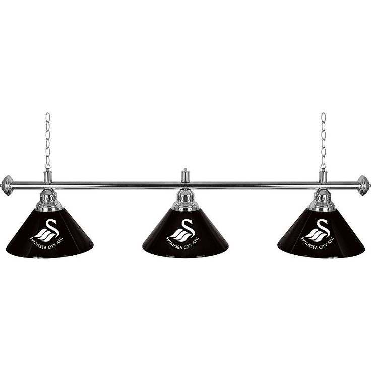 Swansea City AFC Chrome Bar Lamp, Black