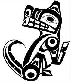 tsimshian wolf tattoo - Google Search