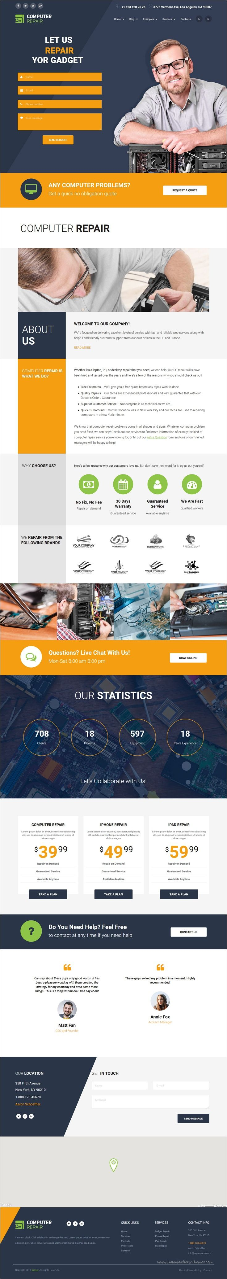 The Repair is a premium #WordPress #template developed for any #computer, mobile phones, tablet, Mac or electronic #repair companies website who wants a professional online presence download now➩ https://themeforest.net/item/the-repair-computer-mobile-and-electronics-repair-wordpress-theme/18200881?ref=Datasata
