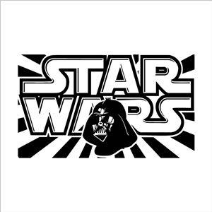 STAR WARS Mark Black PVC Plane Wall Stickers