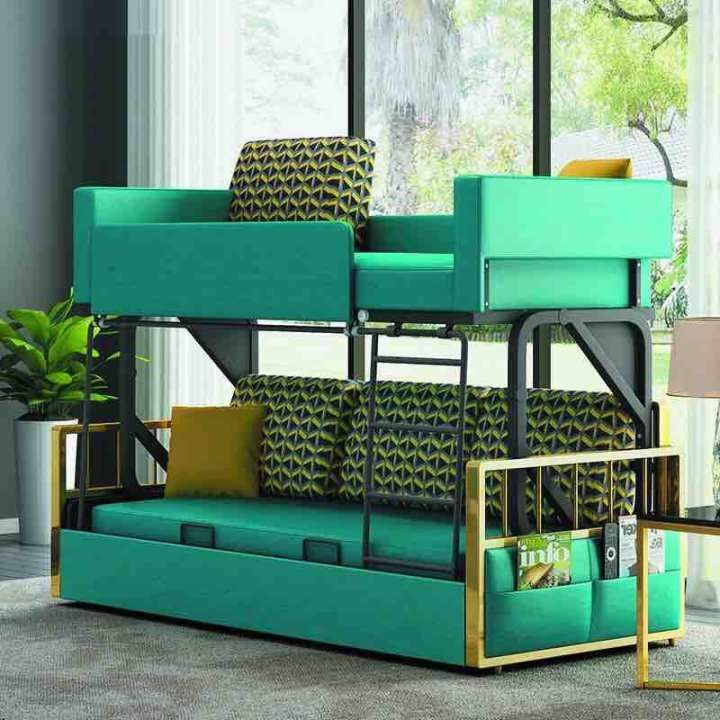 Double Bunk Sofa Bed Double Bunk Sofa Bed Buy Sell Online Beds With Cheap Price Lazada Singapore Bed Boysbedr In 2020 Sofa Bed Set Murphy Bed Sofa Furniture
