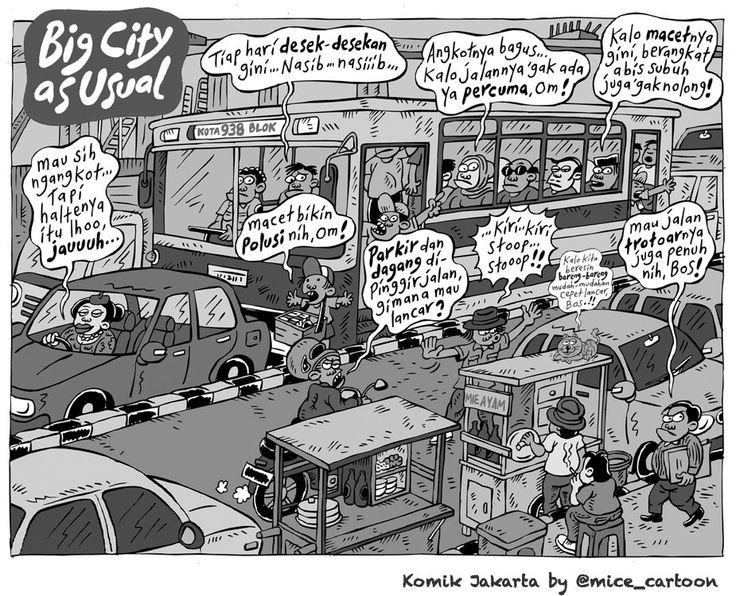 Mice Cartoon, Komik Jakarta 30 Januari 2015: Jakarta As Usual