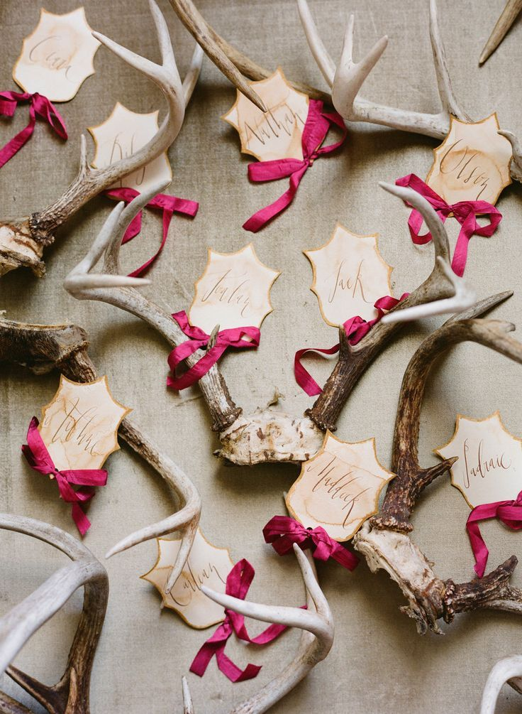 Antlers Wedding Decor Whimsical Ideas