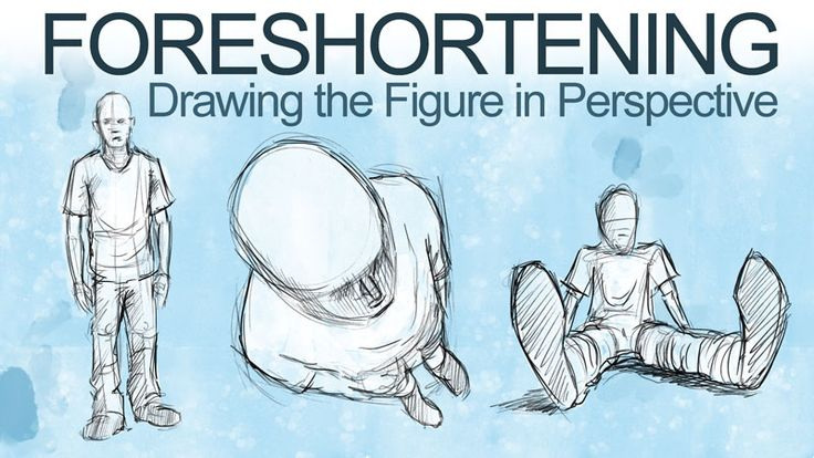 How to draw the figure in perspective - foreshortening.