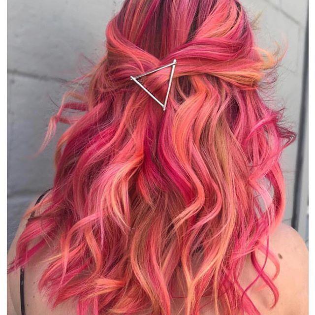 30 atemberaubende bunte Haarfarbe Ideen im Jahr 2018 zu versuchen Rosa farbenfr
