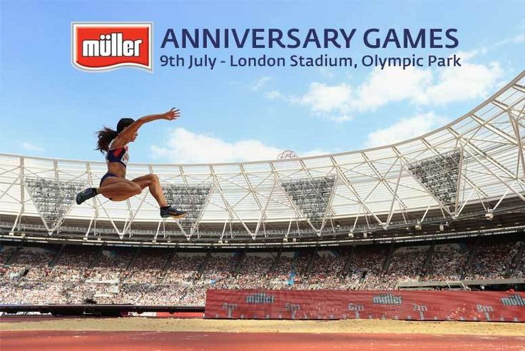 Buy Müller Anniversary Games 2017 Tkt - See Mo Farah! UK deal for just £12.00 £12 for a concession ticket to the Müller Anniversary Games at Olympic Park, £20 for an adult ticket, £40 for a family ticket from British Athletics - save up to 64% BUY NOW for just £12.00