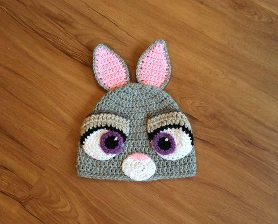 Zootopia Judy Hopps Hat, Judy Hopps Crochet Beanie, Halloween Costume