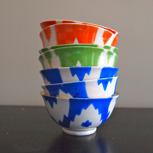 I like these bowls because they have very cool paint and texture colors. I also like the jagged paint design.