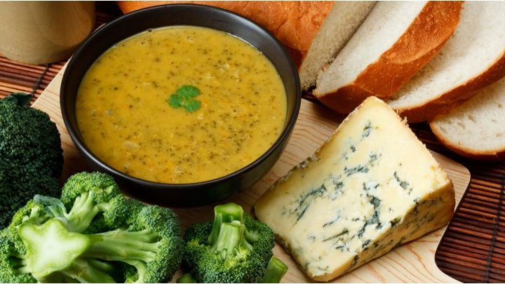 An easy soup recipe, great for using up leftover stilton or other blue cheese... Perfect for using leftover christmas cheeses, can serve with crackers!