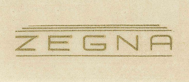 1932: In a time when wholesalers preferred not to communicate fabrics origin, Ermenegildo Zegna fought to establish the trademark as a guarantee of the highest quality. Vintage branding.