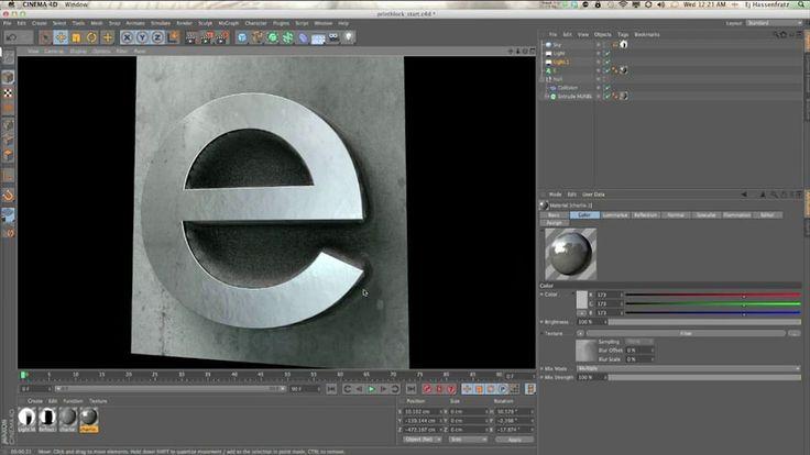 Creating Wood Block or Cast Metal Type In Cinema 4D on Vimeo
