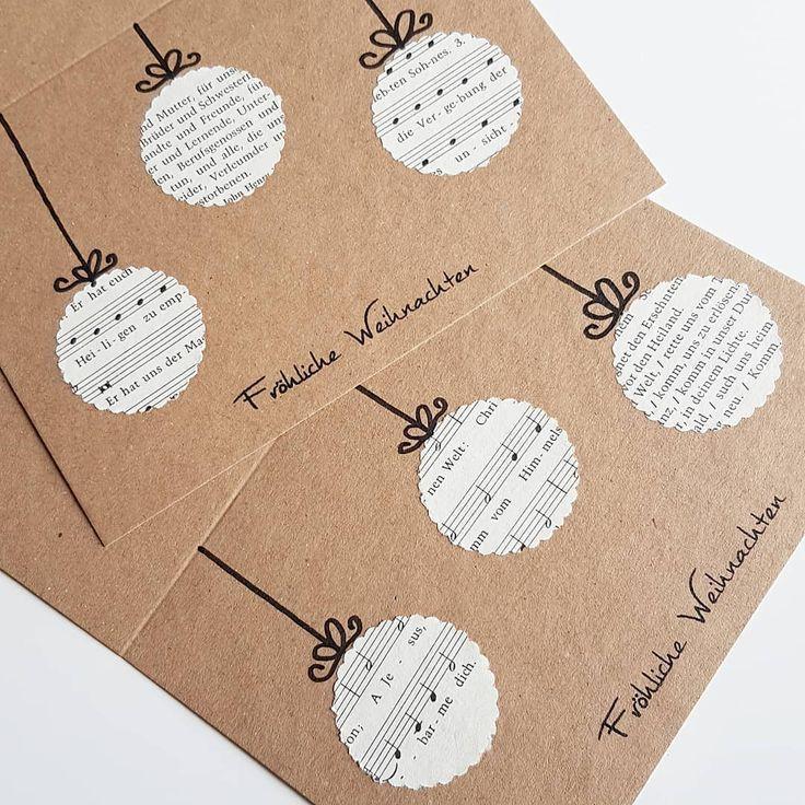 Wie gefällt euch diese Weihnachtskarte mit ausgestanzten Christbaumkugeln aus d