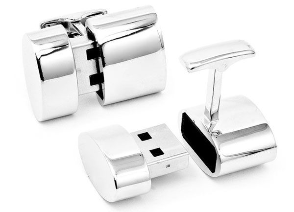 Bond will love this. Cufflinks to set up a WiFi hotspot plus 2GB of Flash storage. Only $250.