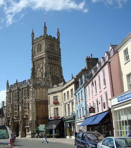 Colorful Buildings, Cirencester, Gloucestershire