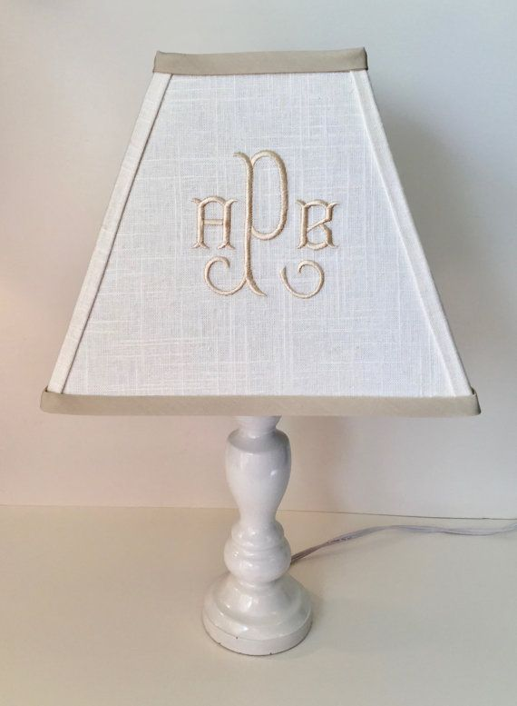 Arabesque Monogrammed Square Lamp Shade Other Colors Available For Monogram And Trim
