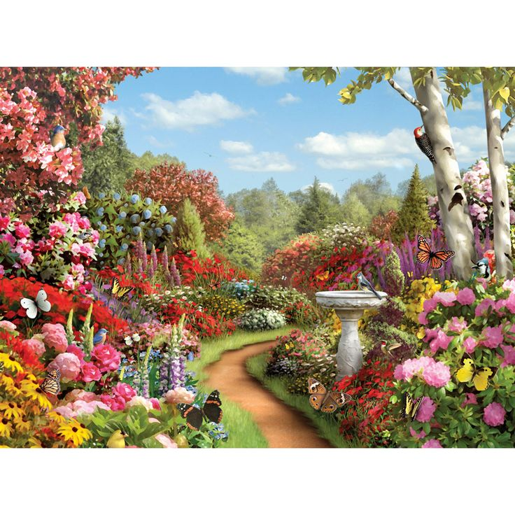 Butterfly Garden By Alan Giana. Enjoy Piecing Together These Beautiful  Jigsaws By Some Of Our Most Popular Artists. Each Puzzle Contains 500  Pieces And ...