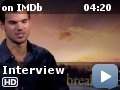 The Twilight Saga: Breaking Dawn - Part 2 -- IMDb's Keith Simanton interviews Taylor Lautner about his favorite moment for his character in the series, how he views the end of the saga, how he uses IMDb and discovers what his first movie in a movie theater was.