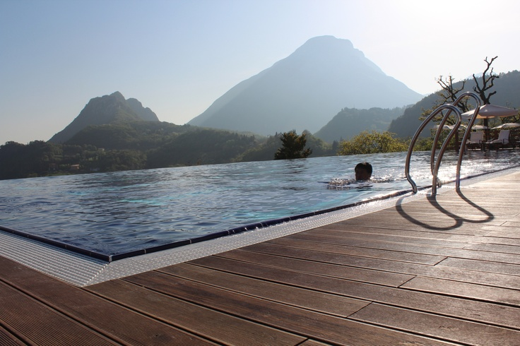 The salt water swimming pool at lefay spa and hotel resort - Hotels with saltwater swimming pools ...