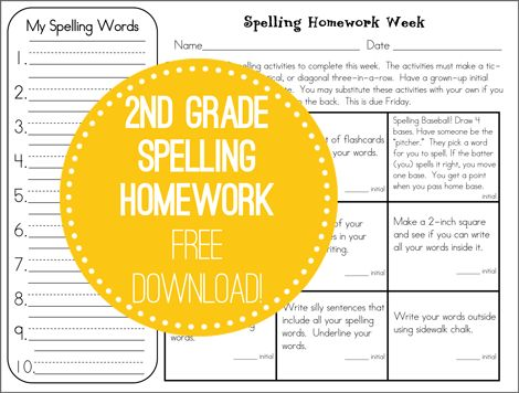 Weekly spelling homework practice- free download! http://www.secondstorywindow.net/home/2012/07/spelling-home.html