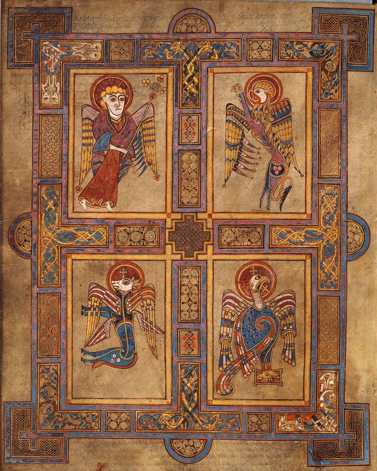 View the entire Book of Kells online. Trinity College, Dublin, Ireland.