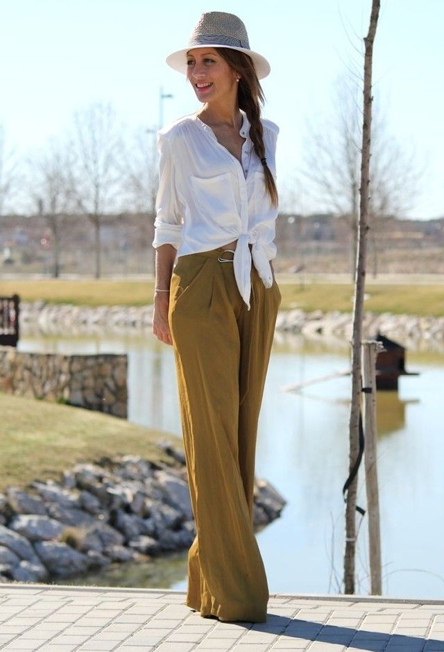@roressclothes closet ideas #women fashion Chic White Blouse Outfit Idea for Early Fall