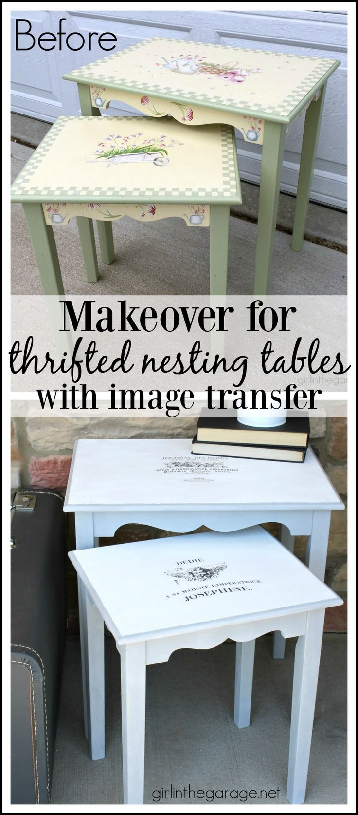 Makeover for Thrifted Nesting Tables