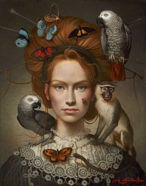 """""""Natural Jewelry"""" by Andrea Kowch #expressionist #painting"""