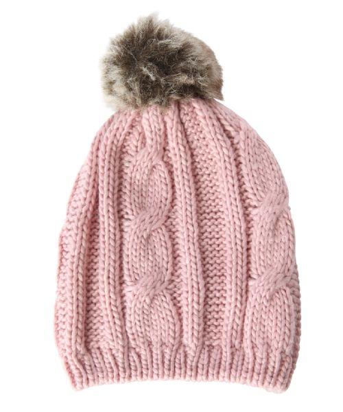 bootlegger.com : kismet fur pom pom beanie in pink