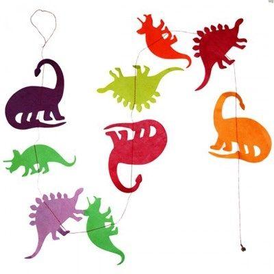 Hanger Dino's Regenboog Paars