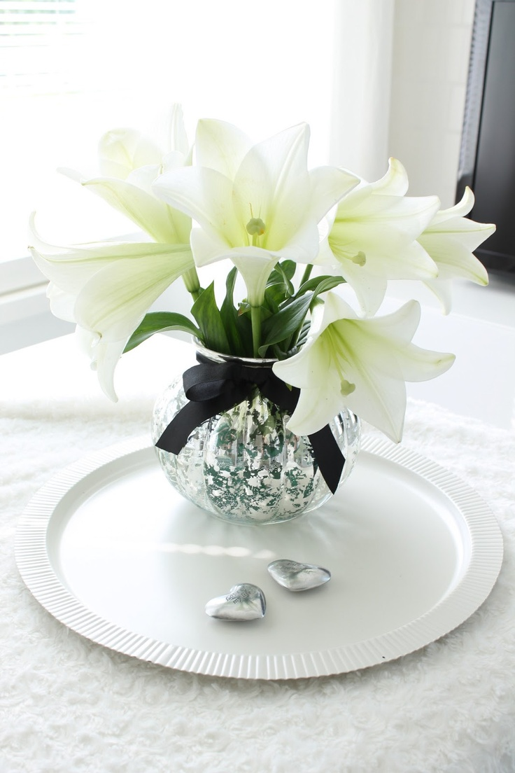 17 Best Images About White Lilies Arrangements On