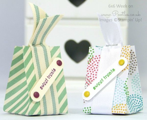 """Tiny Treat Box Tutorial uses 3"""" x 6"""" of DSP.  In Canada, get Stampin' Up! at http://tracyelsom.stampinup.net"""
