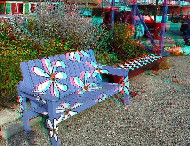 Painted Bench 3d In 2019 Painted Benches Paint