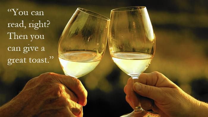 Cheers! The art of toasting is not lost. Here's how to give a great toast.